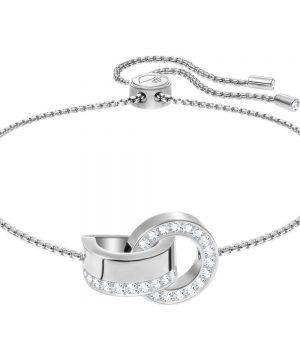 Swarovski Hollow Bracelet, White, Rhodium plating