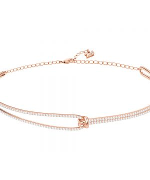 Swarovski Lifelong Choker, White, Rose gold plating