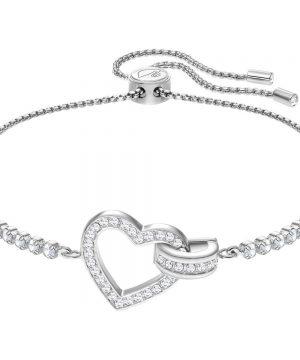 Swarovski Lovely Bracelet, White, Rhodium plating