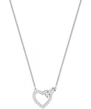 Swarovski Lovely Necklace, White, Rhodium plating