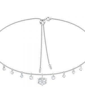 Swarovski Magic Necklace, White, Rhodium plating