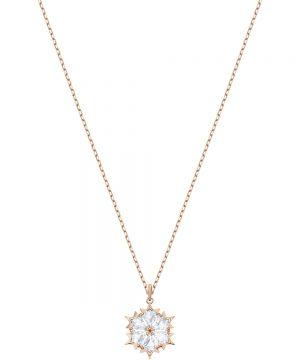 Swarovski Magic Pendant, White, Rose gold plating