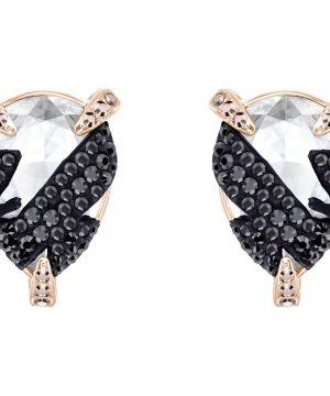 Swarovski Make up Pierced Earrings, Multi-colored, Rose gold plating