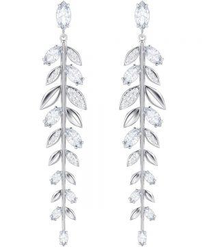 Swarovski Mayfly Pierced Earrings, Long, White, Rhodium plating