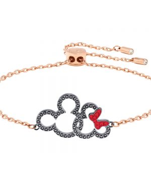 Swarovski Mickey & Minnie Bracelet, Multi-colored, Mixed Plating