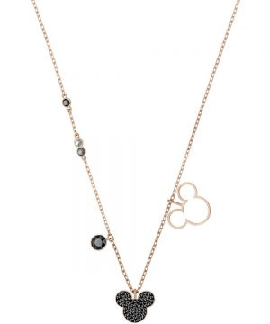 Swarovski Mickey & Minnie Pendant, Multi-colored, Rose gold plating