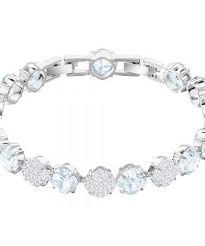 Swarovski Mix Bracelet, Blue, Rhodium plating