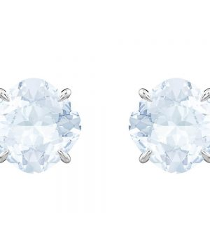 Swarovski Mix Pierced Earrings, Blue, Rhodium plating