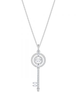 Swarovski Sparkling Dance Key Pendant, White, Rhodium plating