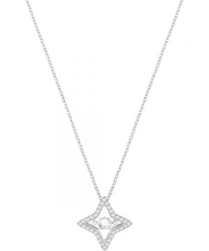 Swarovski Sparkling Dance Star Pendant, Small, White, Rhodium plating