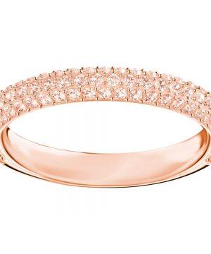 Swarovski Stone Mini Ring, Pink, Rose gold plating