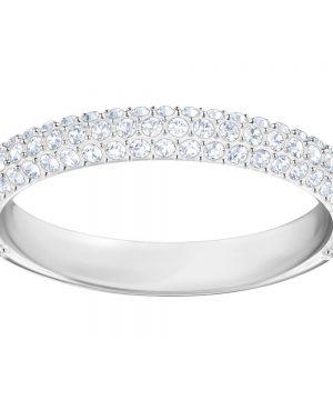 Swarovski Stone Mini Ring, White, Rhodium plating