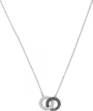 Swarovski Stone Necklace, Multi-colored, Rhodium plating