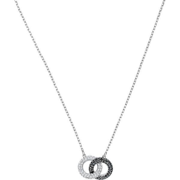 Swarovski Stone Necklace, Multi-colored, Rhodium plating