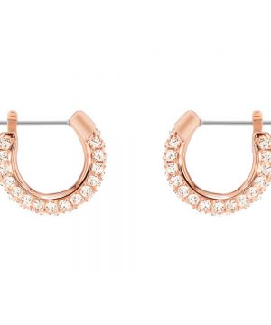 Swarovski Stone Pierced Earrings, Small, Pink, Rose gold plating