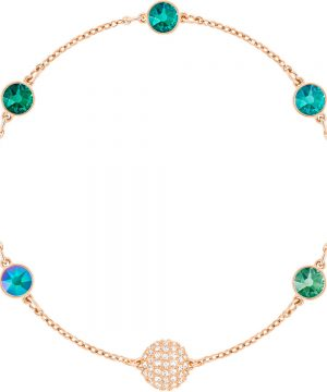 Swarovski Swarovski Remix Collection Green Strand, Multi-colored, Rose gold plating