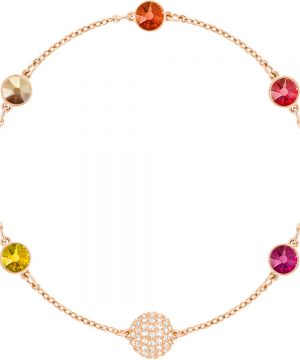 Swarovski Swarovski Remix Collection Orange Strand, Multi-colored, Rose gold plating