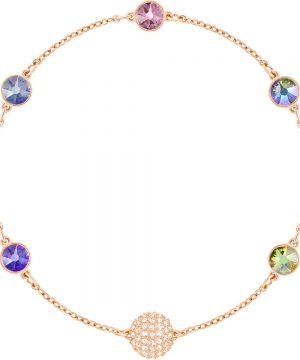 Swarovski Swarovski Remix Collection Purple Strand, Multi-colored, Rose gold plating