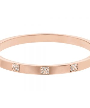 Swarovski Tactic Bangle, White, Rose Gold Plating