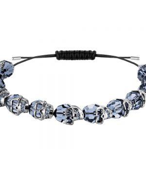 Swarovski Taddeo Bracelet, Blue, Ruthenium plating