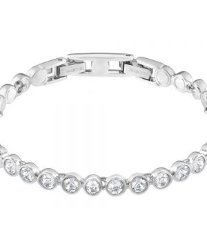 Swarovski Tennis Bracelet, White, Rhodium Plating