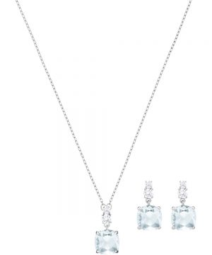 Swarovski Vintage Set, Blue, Rhodium plating