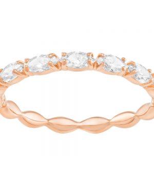 Swarovski Vittore Marquise Ring, White, Rose Gold Plating