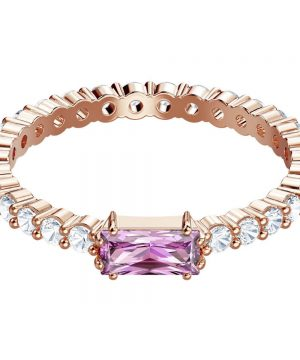 Swarovski Vittore Ring, Multi-colored, Rose gold plating