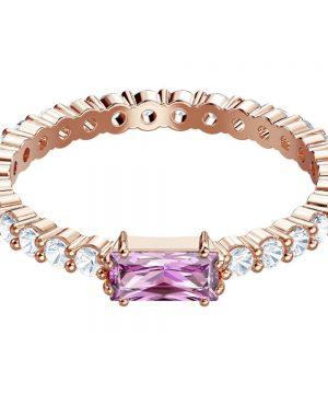 Swarovski Vittore Ring, Multi-colored, Rose gold plating