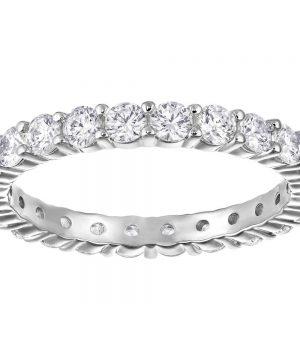 Swarovski Vittore XL Ring, White, Rhodium Plating