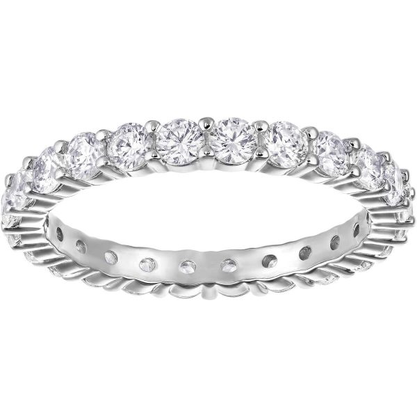 Swarovski Vittore XL Ring, White, Rhodium Plating