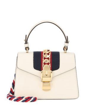 Sylvie Mini leather crossbody bag