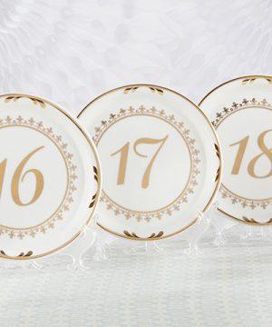 Tea Time Vintage Plate Table Numbers (13-18)