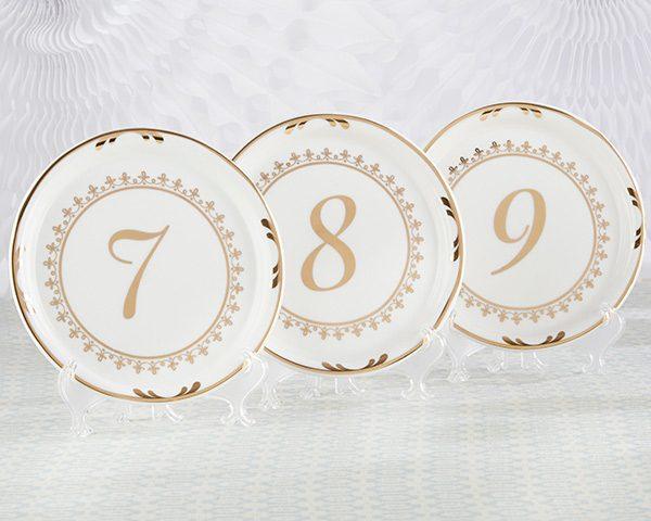 Tea Time Vintage Plate Table Numbers (7-12)