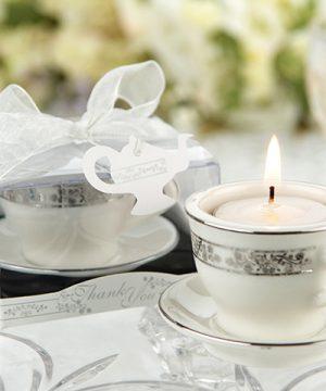 Teacups & Tea Lights Miniature Porcelain Tea Light Holder