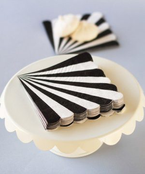 Toot Sweet Scalloped Stripe Party Napkins