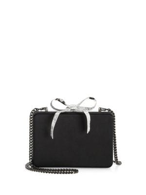 Tro Silk & Crystal Bow Clutch