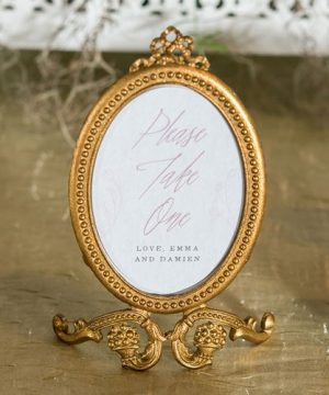 Vintage Place Card Holder/Photo Frame