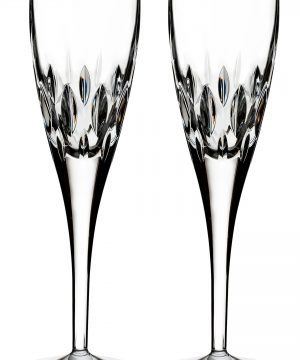 Waterford Enis Set Of 2 Leaded Crystal Champagne Flutes