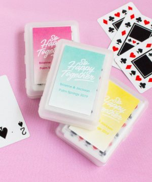 Wedding Themed Playing Cards with Personalized Label