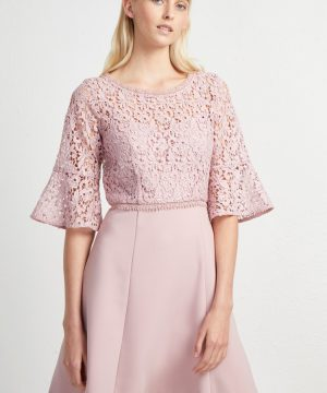 Whisper Ruth Lace Mix Dress - teagown