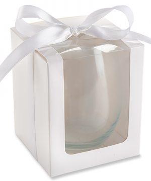 White 15 oz. Stemless Wine Glass Gift Box (Set of 12)