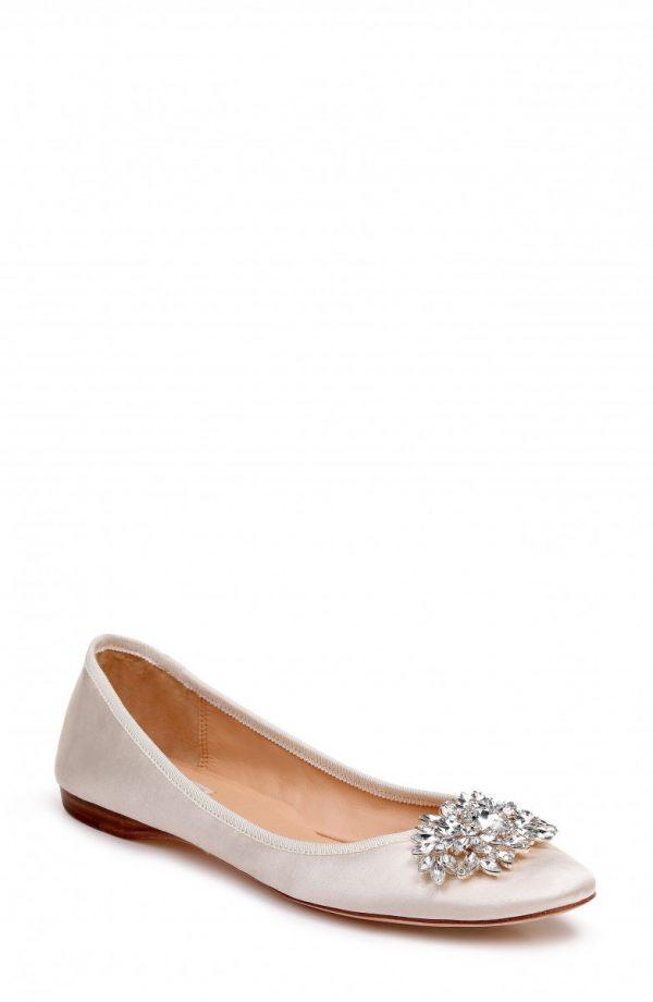 Women's Badgley Mischka Pippa Crystal Foldable Flat