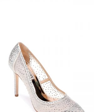 Women's Badgley Mischka Weslee Pointy Toe Pump, Size 11 M - Ivory