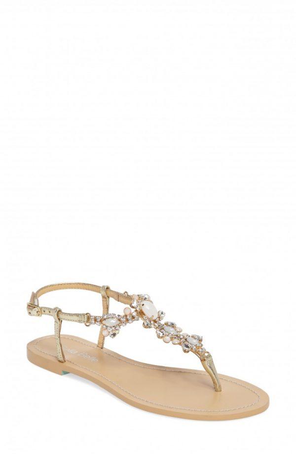 Women's Bella Belle Luna Embellished T-Strap Sandal