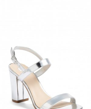 Women's Bp. Lula Block Heel Slingback Sandal, Size 10 M - Metallic