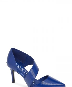 Women's Calvin Klein 'Gella' Pointy Toe Pump, Size 7 M - Blue