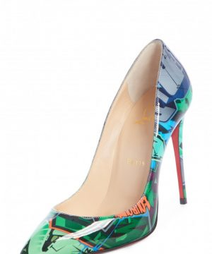 Women's Christian Louboutin Pigalle Follies Graffiti Pump, Size 8US / 38EU - Green