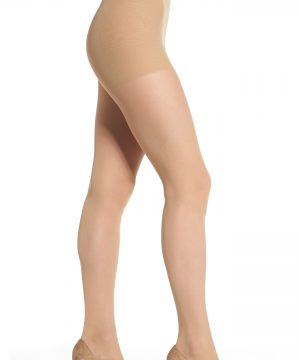 Women's Dkny Light Opaque Control Top Tights, Size Medium - Beige