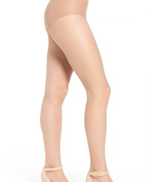 Women's Donna Karan The Nudes Toeless Pantyhose, Size Medium - Beige